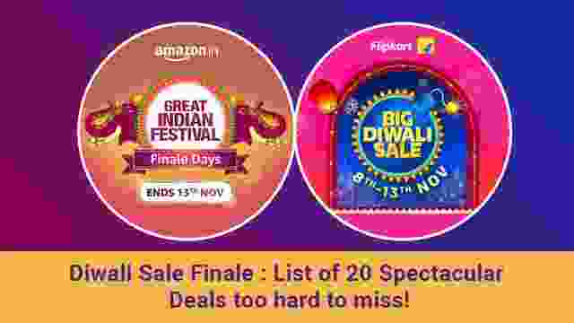 Amazon & Flipkart Diwali Sale Finale : List of 20 Spectacular Deals too hard to miss!