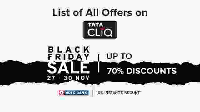 List of All Offers on Tata Cliq Black Friday Sale 2020 with upto 70% Discounts