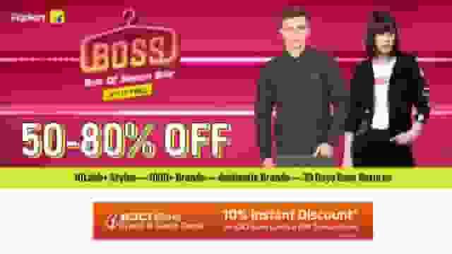 Flipkart Best of Season Sale(BOSS) Live Now : Get 50-80% Discounts on more than 10 Lakh Styles
