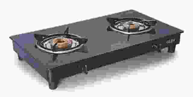 Glen 2 Burners Gas Stove 1020 GT Black Cooktop