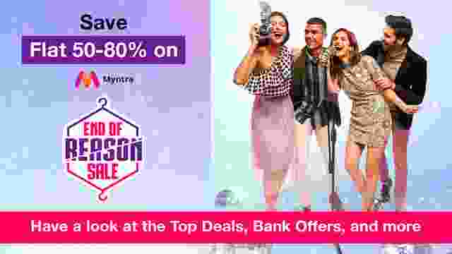Save Flat 50-80% on Myntra End Of Reason Sale : Have a look at the Top Deals, Bank Offers, and more