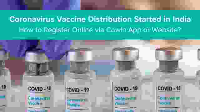 Coronavirus Vaccine Distribution Started in India : How to Register Online via Cowin App or Website?