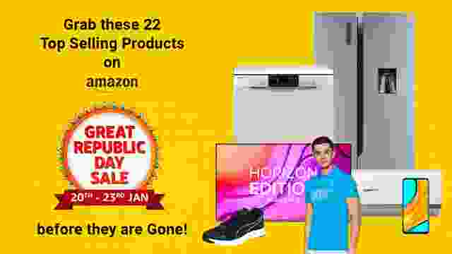 Grab these 22 Top Selling Products on Amazon Great Republic Day Sale before they are Gone!