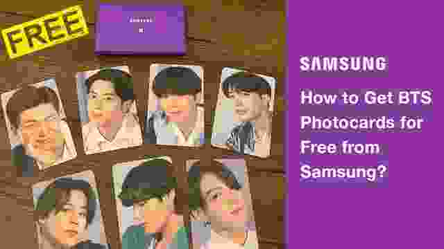 How to Get BTS Photocards for Free from Samsung India?