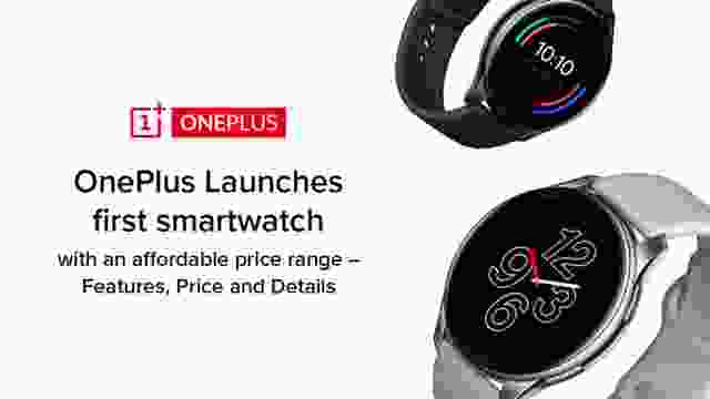 OnePlus Launches first smartwatch