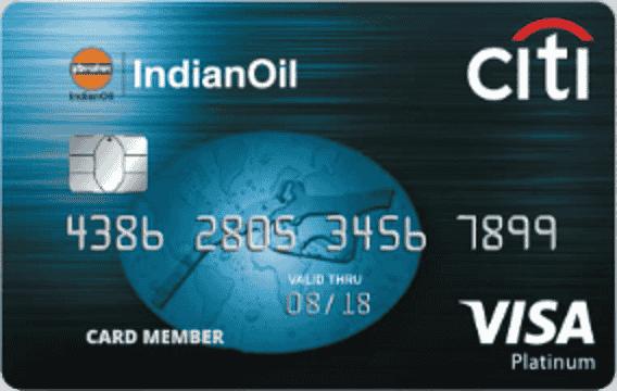 Indian Oil CitiBank Platinum credit card