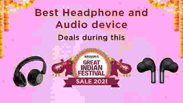Best Headphone and Audio device Deals during this Amazon Great Indian Festival Sale
