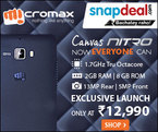 Exclusive - Rs. 150 Extra Off on Micromax Nitro