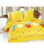 Light-orange-floral-printed-double-bedsheet-set-light-orange-floral-printed-double-bedsheet-set-pwx5m4