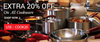 Extra 20% Off on Cookware