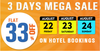 Flat 33% OFF on Hotel Bookings