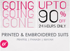 Going Going Gone Sale, Upto 90% off