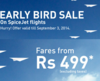 Spicjet early bird sale : Fares from Rs.499