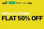 Flat 50% off on Mens clothing