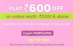 Flat Rs.600 off on your order worth Rs.2000 & above | Diapers, Apparel, Toys, Baby Care & more firstcry