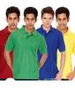 Flat 75% off on Pack of 4 Polo T-shirts For Men by Kaizen