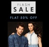 Flat 50% off  on Top Brands
