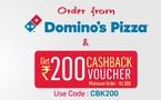 Rs 200 Cashback on Order of Rs 300 & Above