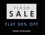 Flash Sale -- Flat 50% off @ Myntra