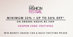 Minimum 32% off + upto 50% off on minimum purchase of Rs.1599 on selected styles