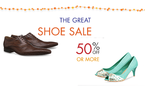 50% off or more on Branded Shoes