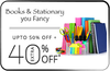 Get Upto 50% off + 40% Extra on Books & Stationary