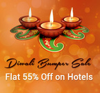 Extra 55% Off on all Hotels (max upto Rs.3000) + Extra 5% on Mobile