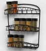 Metal Style Artistic 3 Tier Wall Shelf
