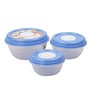 Princeware Blue Fresh Vent Round Set of 3 Containers