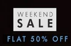Weekend sale : Flat 50% off at Myntra