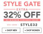 Upto 80% off + extra 32% off (no minimum purchase)