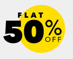 Flat 50% off on selected brands