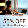 Get upto 55% off on hotel bookings.