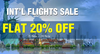 Get 20% Off on International Flights and hotels