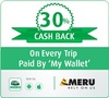 30% cash back on every Meru trip payment done by paying through wallet
