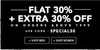 Flat 30% off + extra 30% off on selected styles on minimum purchase of Rs.999