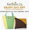 Flat 26% off on all Jute Handbags