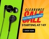 Clearance Sale on Electronic Accessories starting at Rs.49