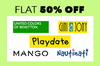 Flat 50% off on Kids Clothing by Mango,UCB,Playdate & more