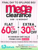 Flat 60% off + extra 30% off on all products with no minimum purchase.