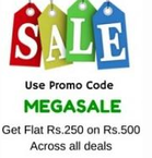 (Live Again) Rs. 250 off on Rs. 500 + extra 5% off (Sitewide)