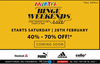 Myntra: Binge Weekend Sale (40-70% off + SBI 5% off + Pizza Hut Rs.100 off)