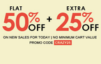 Get Flat 50% Off + Extra 25% Off on Style Essentials