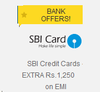 Flat Rs. 1250 Off on Flipkart with your SBI Card