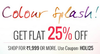 Holi offer Flat 25% off on order above Rs 1999.