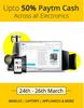 Upto 50% off Paytm Cash Across all Electronics