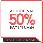 Upto 60% off  + Additional 50% cashback on  Home appliances