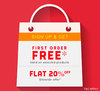 First Order Free For First Time Buyers!