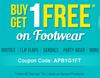 Buy 1 Get 1 Free on Footwear