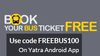 Get 100% cashback on bus booking on Yatra
